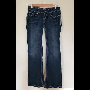 BKE starlite flare jeans glitter stretch womens 25